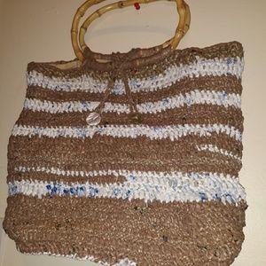 Handcrafter, handbag made of recicling plastic
